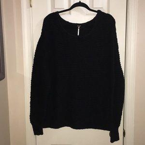 Free People Black Sweater Size Medium